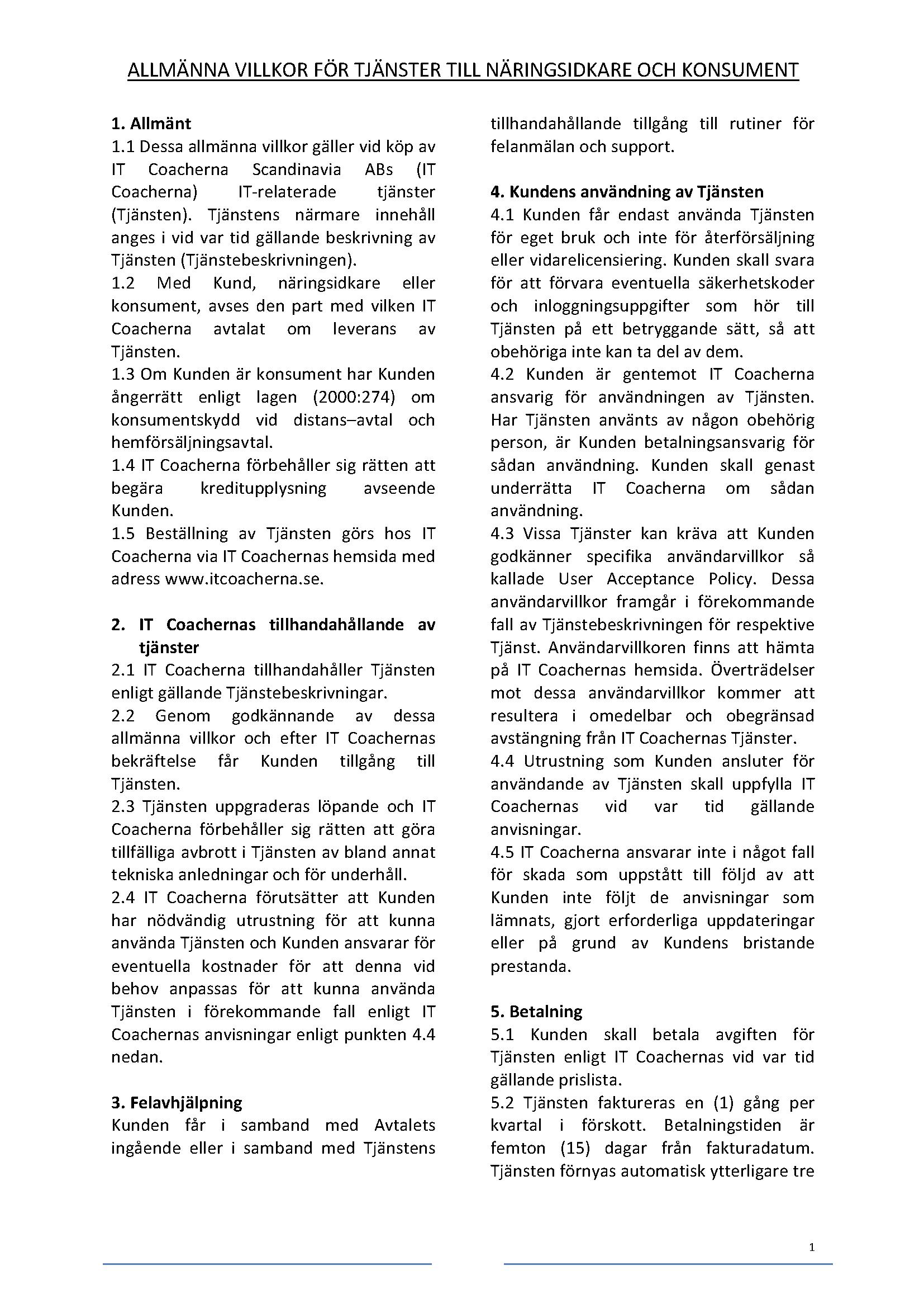 Allmännavillkor ITCO_111216_Stor_txt_Sida_1